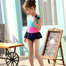 Korean children child modeling pink swimwear for kids
