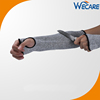 Grey Color Arm Elbow Knife Protection Anti Cut Resistant Knit Sleeves