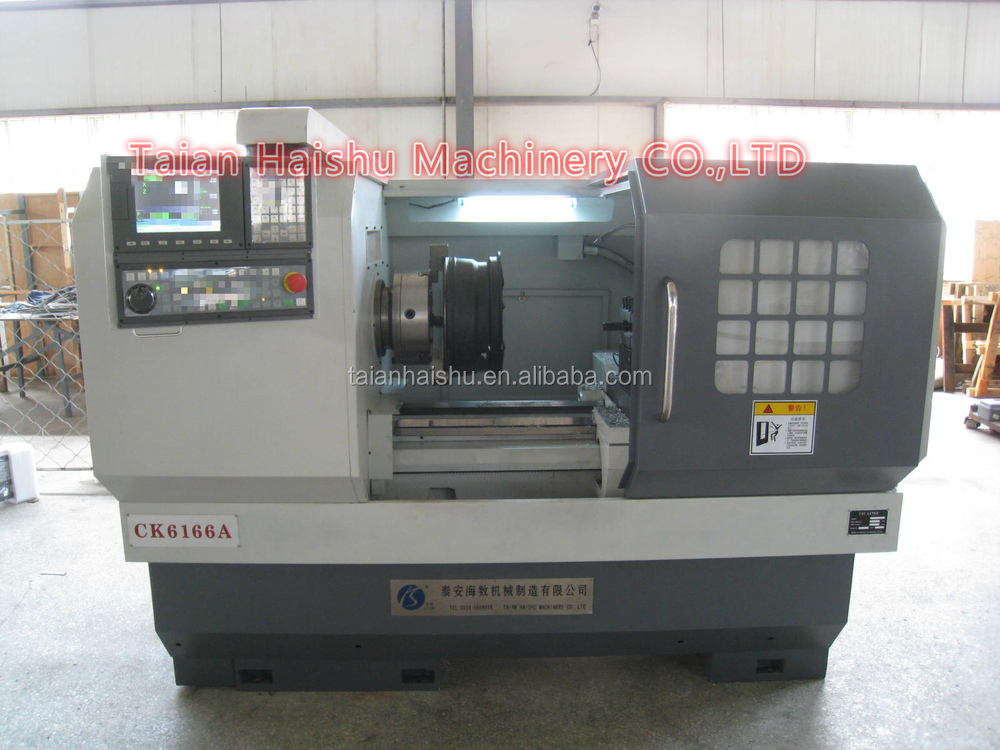 cnc lathe wheel repair machine with probe and controller system/horizontal cnc lathe 660mm swiming