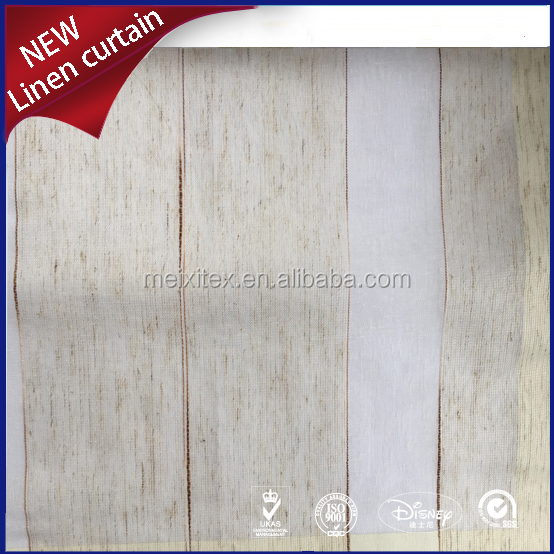 100% polyester linen look fabric drapes and curtains for homes/hotel/hospital
