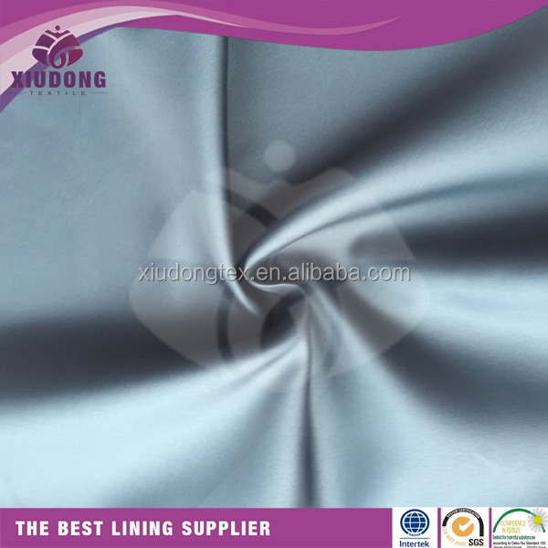 100% weaving polyester plain lining fabric for clothing and bags