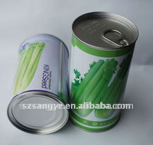 empty tin can, tin can, vegetable seed tin can