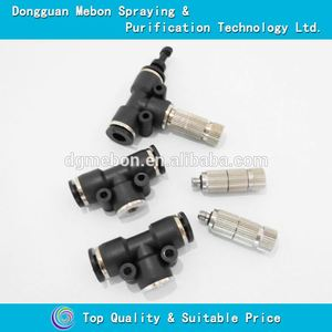 6 bar mist nozzle and connector,outdoor cooling fog nozzle