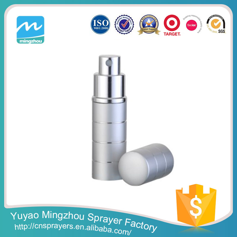 New Design Super Quality Factory Competitive Price Silver Aluminium Perfume Container