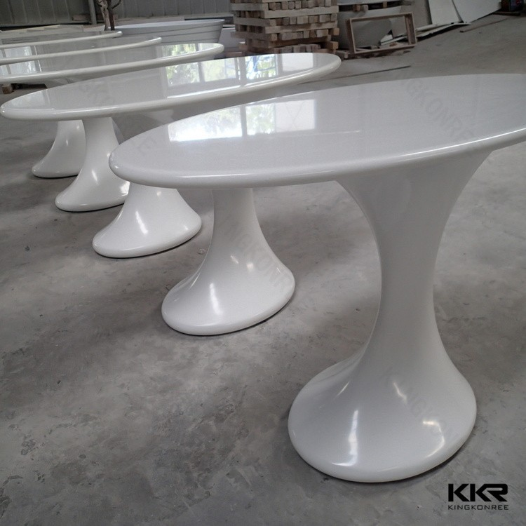 solid surface tulip oval dining table