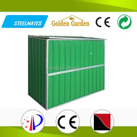 home garden galvanized steel bicycle shed storage