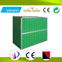 home garden galvanized steel reasonble price bicycle shed storage