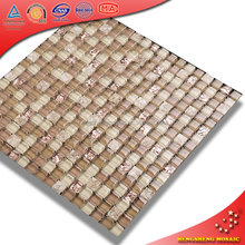 Wholesale mix color golden select glass backsplash mosaic tiles prices in egypt