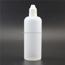 empty PE plastic eye dropper bottle with child-proof cap