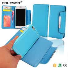 2 in 1 Book Style Manufacturer Wholesale With Screen Portector Leather Mobile Phone Case for iphone 6