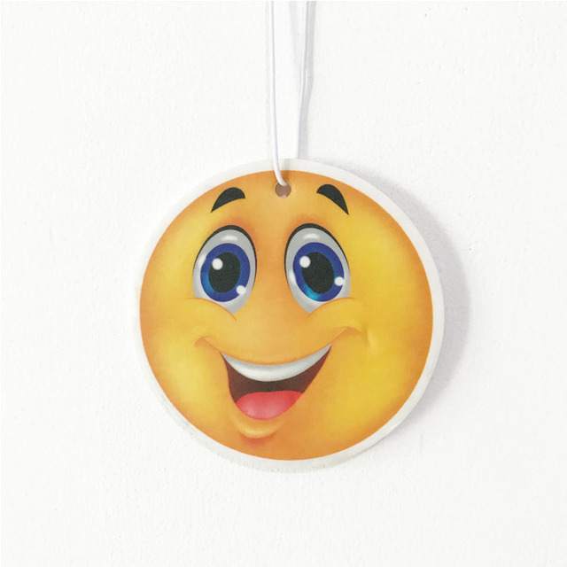 smiley face car hanging air freshener dubai dropshipping
