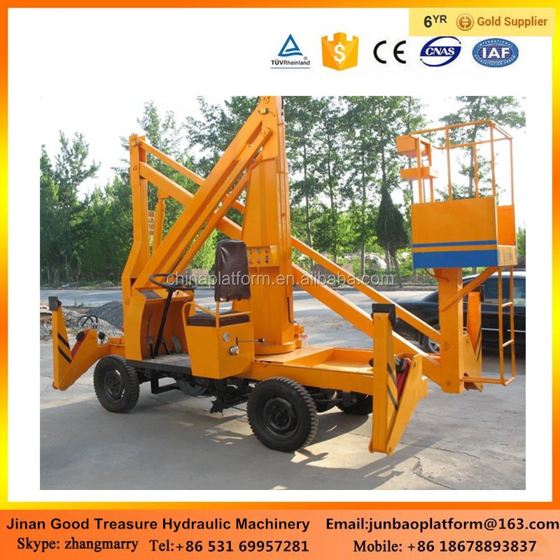 12m telescopic boom lift hydraulic manlift price