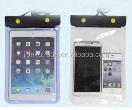Outdoor PC waterproof pvc diving transparent mobile cell phone bag