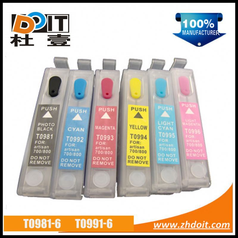 Hot in America T0981 T0991 inkjet refill cartridge for Epson Stylus Artisan 810 empty