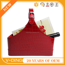 vding from China for professional supplier of high quality leather small gift baskets