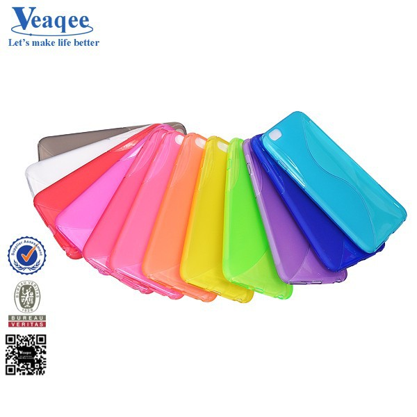 Veaqee 2015 new products S line soft colorful tpu case for iphone 6