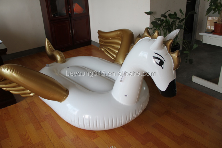 Giant Pegasus Inflatable Pool Float Swimming Large Ride-on toys,outdoor Swimming Pool Floatie Lounge Toy for Adults & Kids