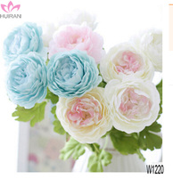 2017 New Design Artificial Silk Peony Wedding Flower Real Touch Silk Flower