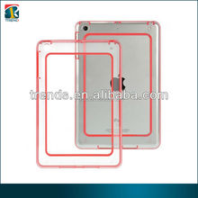 crystal clear bumper case cover for ipad mini tablet