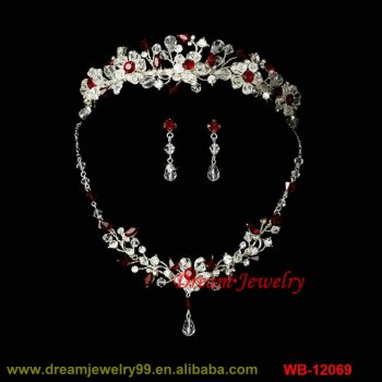 hot sale jewelry set red stone nice costume jewelry sets 18k gold flowers tiaras necklaces earrings  sc 1 st  Dream Jewelry Co. Ltd. - Alibaba & hot sale jewelry set red stone nice costume jewelry sets 18k gold ...