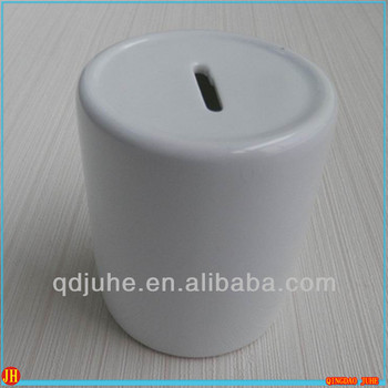 blank sublimation ceramic money pot