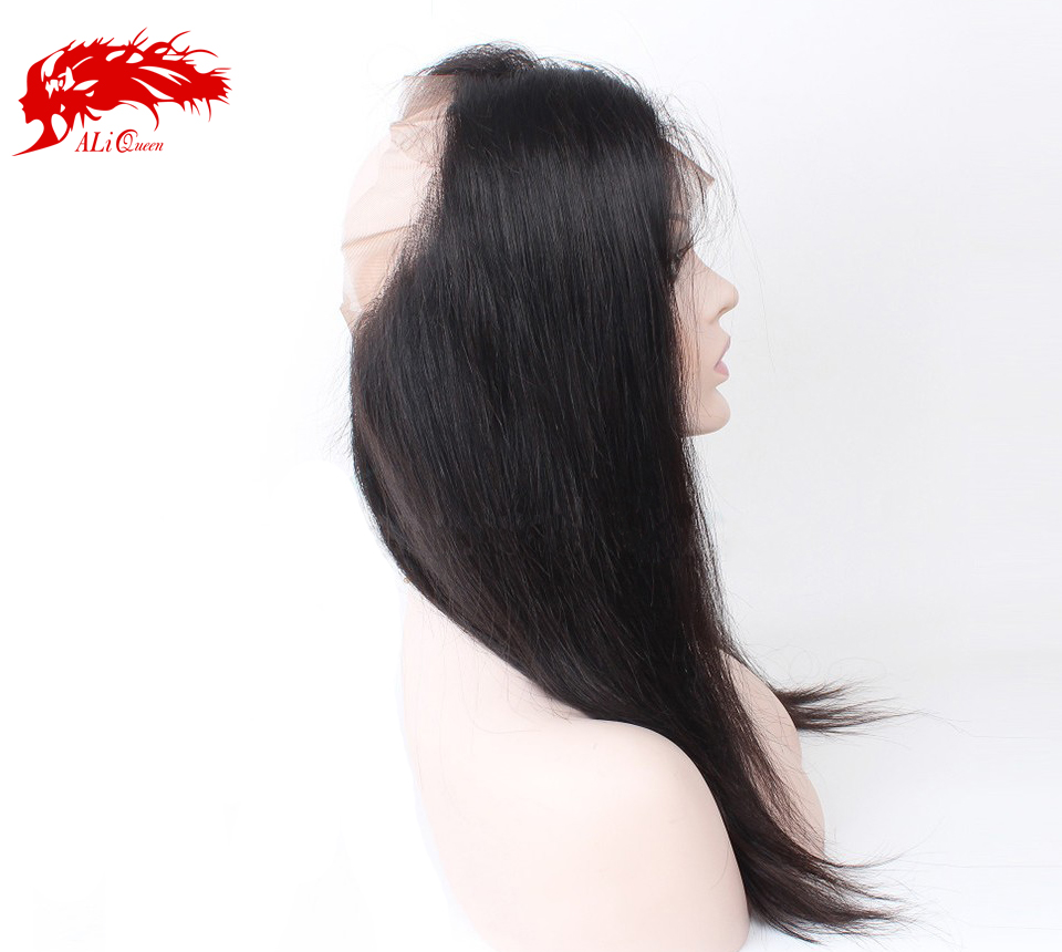 "100 percent unprocessed straight brazilian virgin 22"" hair 360 cheap lace front closure"