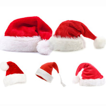 High Quality Plush Christmas Hat For Xmas Decoration