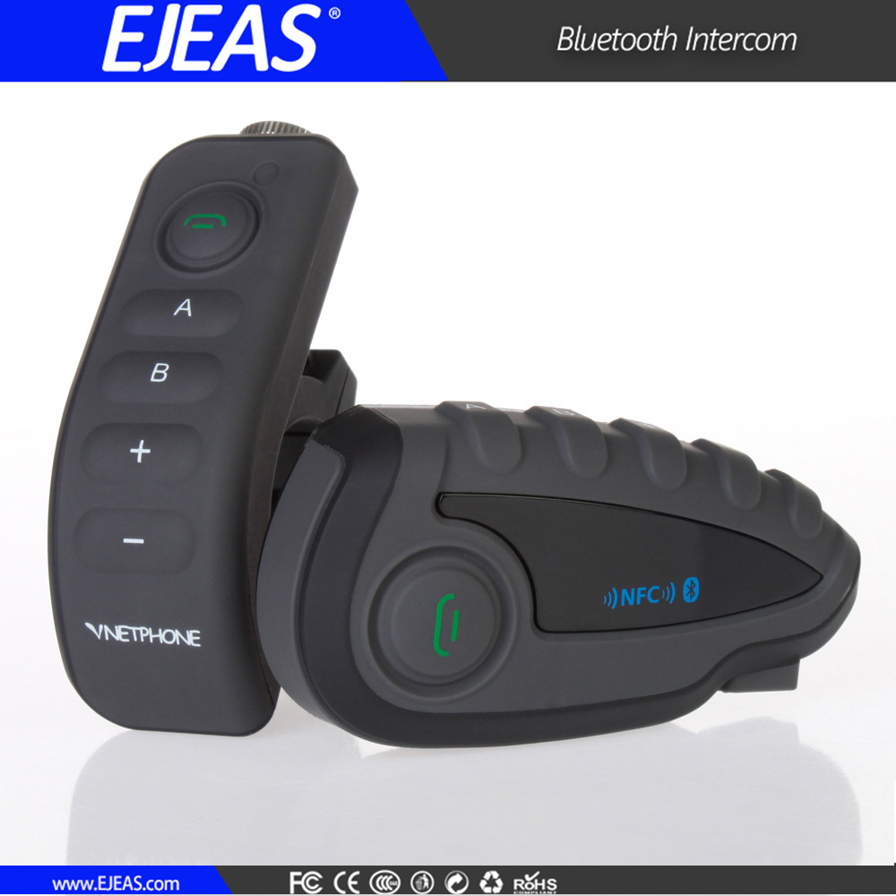 FM radio 1200 meters motorcycle wireless helmet intercom headset with handle control china factory