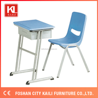Foshan furniture Middle school desk and chair for sale KL-101