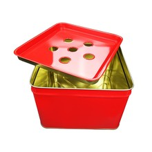 square bucket tin can packaging with metal lid