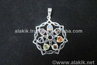 Wholesale 925 Silver Healing Flower Amulet