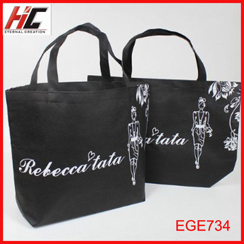 pembekal wholesale Wenzhou best selling black non woven tote bag to malaysia