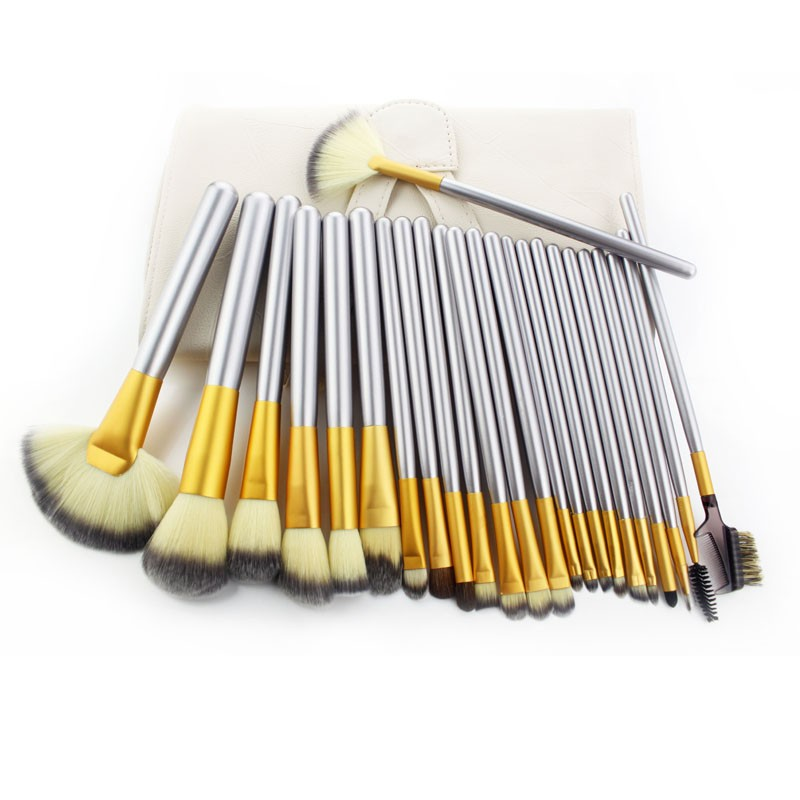 Professional high quality 12/18/24pcs make up brushes with wood handle brushes set