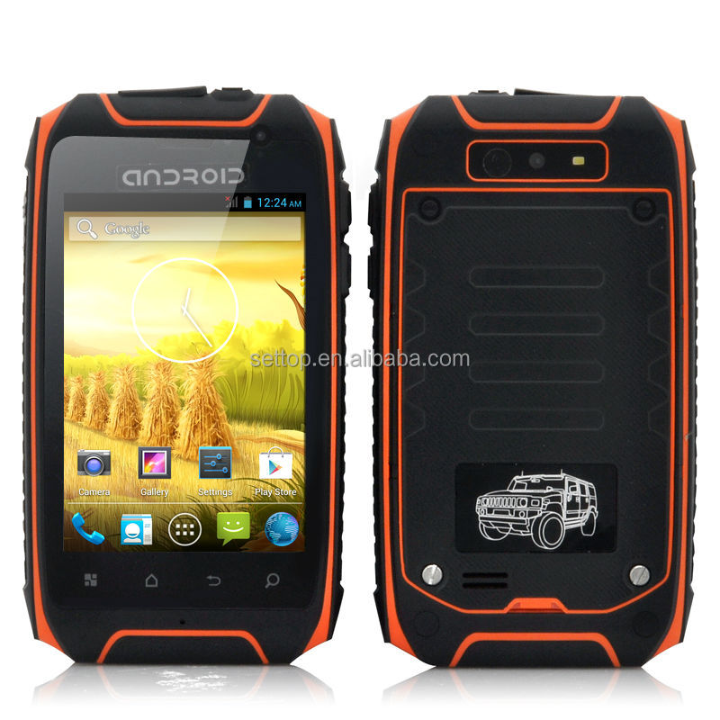 waterproof android mobile phone for Hummer H1 MTK6572 Android 4.2 dual core dual SIM outdoor