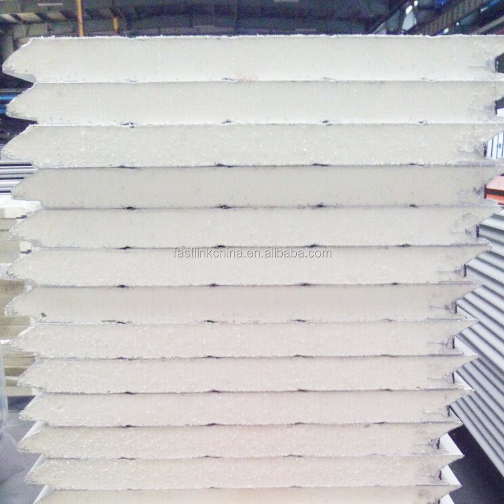Fireproof thermal insulation structural pu sandwich wall for Fireproof wall insulation