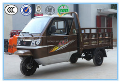 Chongqing manufacture mini lpg truck front loading cargo tricycle enclosed cabin tricycle