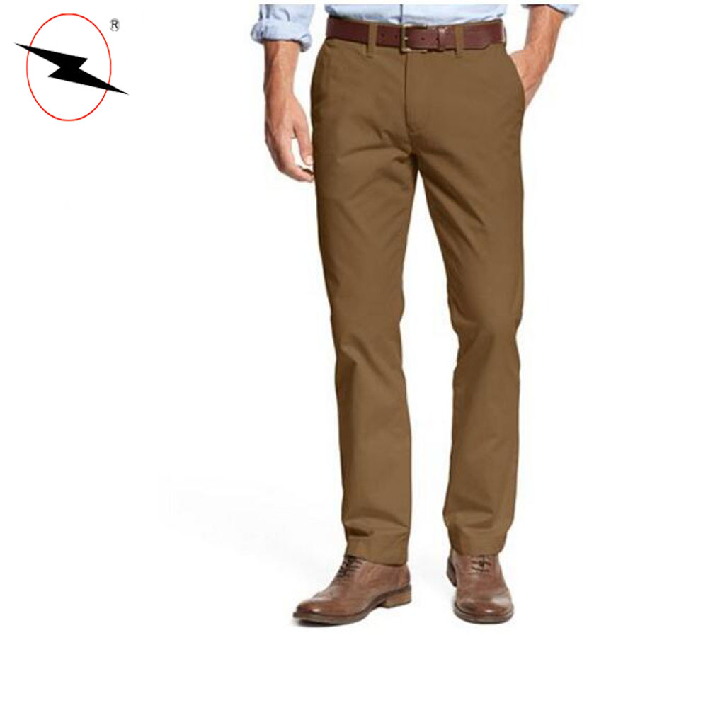Men's custom fit washed chino euro classic pants