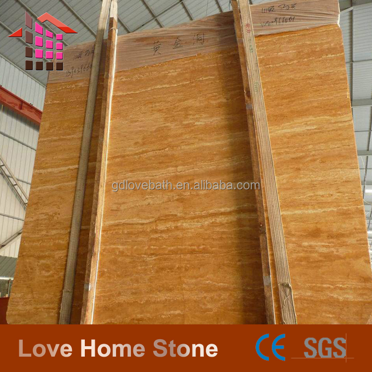 Love Home Stone 36*36 natural travertine design gold floor tiles