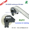 62mm x 30.48m Black on white P-touch label printer dk22205 Continuous dk label