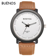 Korean Simple Retro Business Leather Band Men Watch