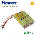 for airplane lithium battery pack 4s5p 14.4v 17000mah battery pack with JST 5p plug