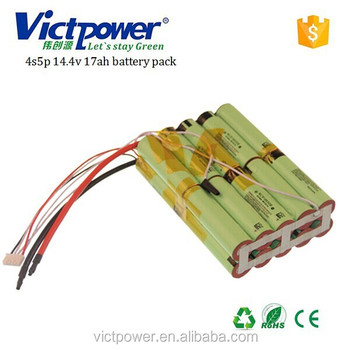lithium battery pack 4s5p 14.4v 17000mah battery for power tool