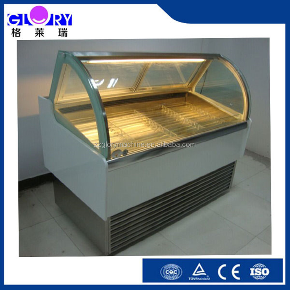 Commercial Horizontal Ice Cream Popsicle Display Cabinet