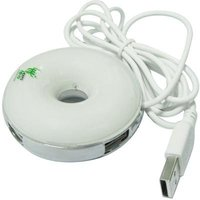 Fashionable and Cute 4 ports usb 2.0 hub Round(white)