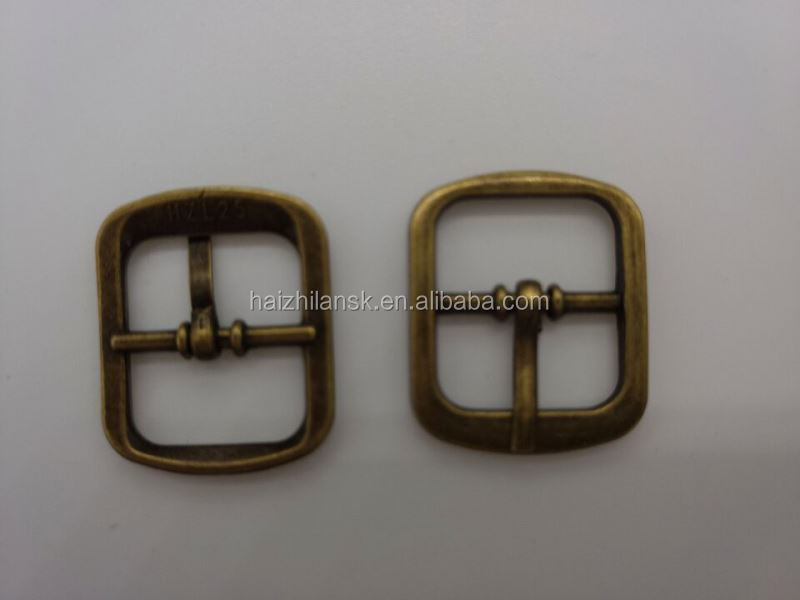 New products custom design enamel double pin belt buckle from manufacturer