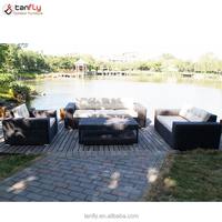 Popular PE rattan wicker garden furniture outdoor sofa