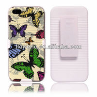 FL2412 2013 Guangzhou hot selling butterfly case with belt clip for iphone 5 5G
