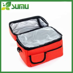 Double layer insulated zip lock cooler bag for medicine