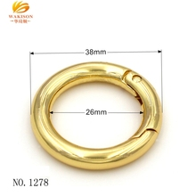 Bag Accessories Fashion Metal Gold Spring Ring Clasps 25mm