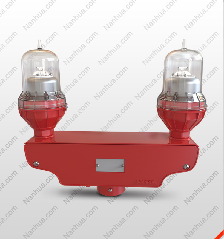 NANHUA LS810D Dual aviation obstruction lights/Twin weatherproof aircraft Lights/led tower obstacle light ICAO/ FAA